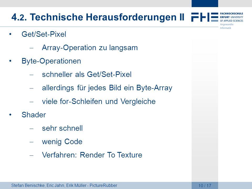4.2. Technische Herausforderungen II