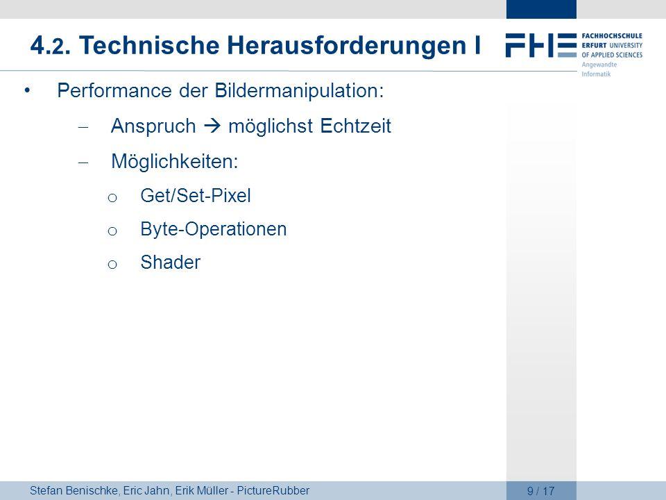 4.2. Technische Herausforderungen I