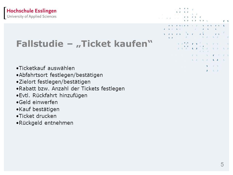"""Fallstudie – """"Ticket kaufen"""