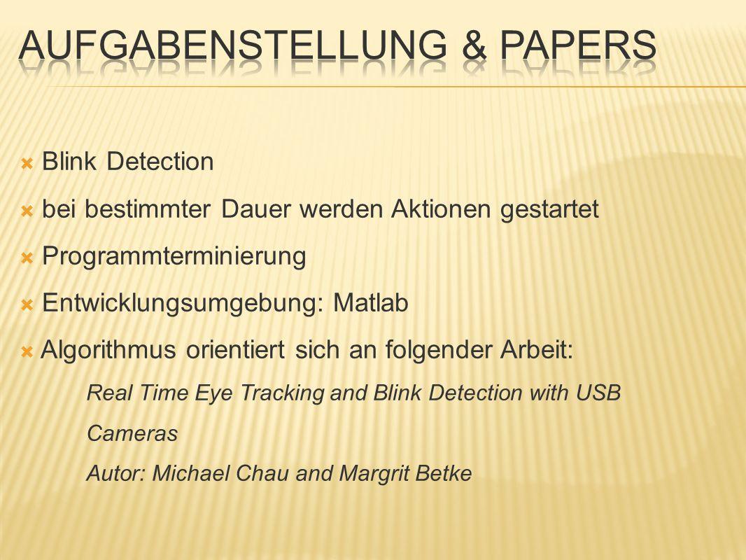 Aufgabenstellung & Papers