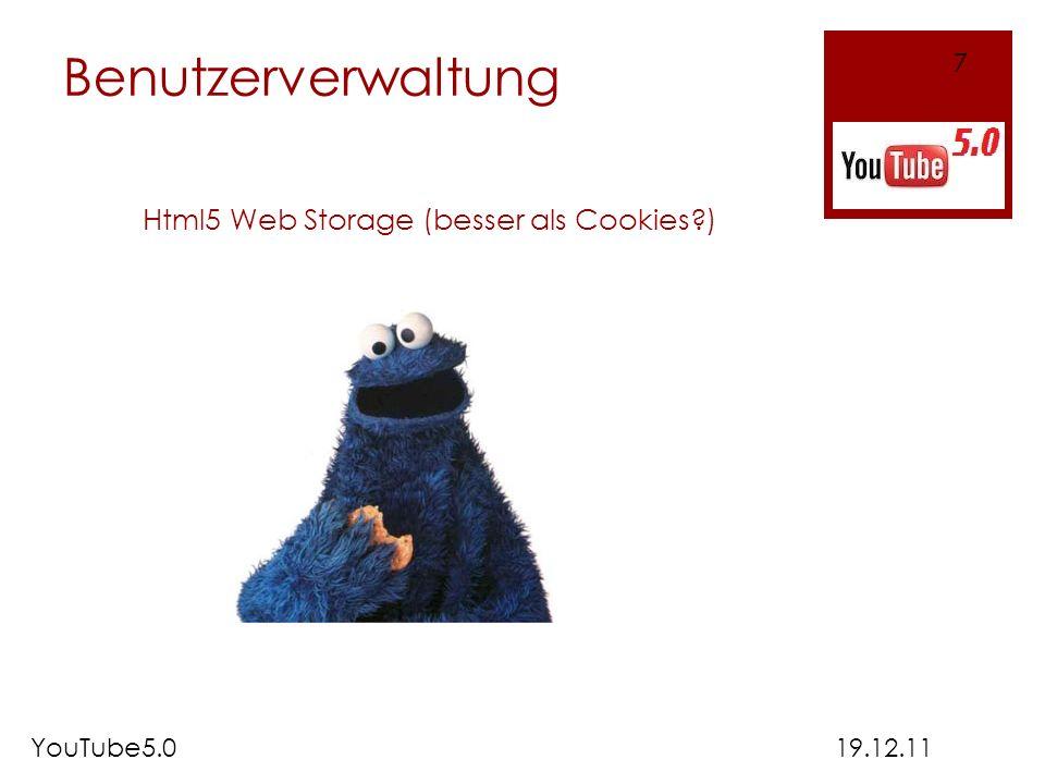 Html5 Web Storage (besser als Cookies )