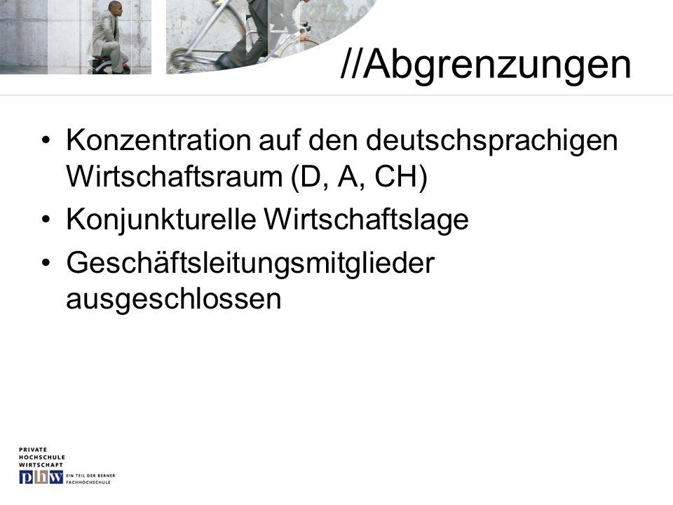 //Abgrenzungen Konzentration auf den deutschsprachigen Wirtschaftsraum (D, A, CH) Konjunkturelle Wirtschaftslage.