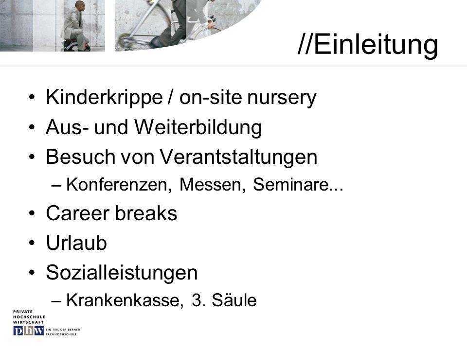 //Einleitung Kinderkrippe / on-site nursery Aus- und Weiterbildung
