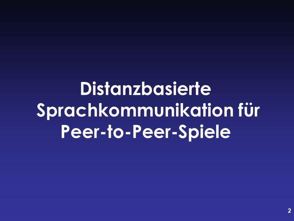 Distanzbasierte Sprachkommunikation für Peer-to-Peer-Spiele