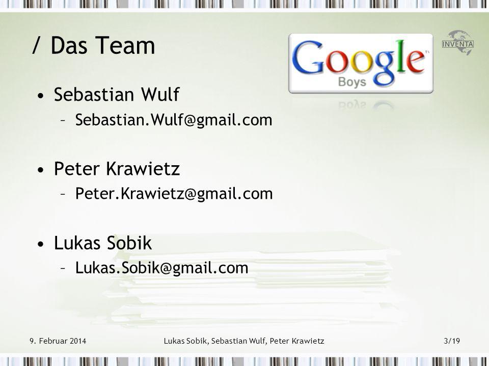 Lukas Sobik, Sebastian Wulf, Peter Krawietz