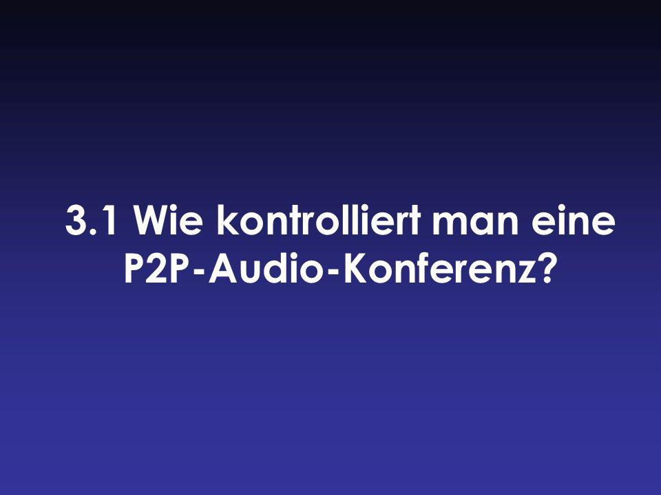 3.1 Wie kontrolliert man eine P2P-Audio-Konferenz