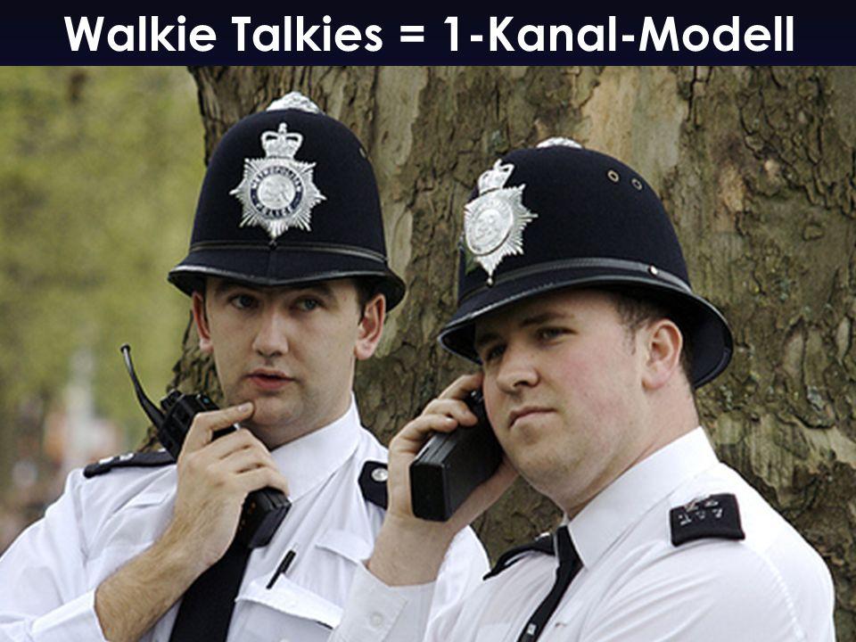 Walkie Talkies = 1-Kanal-Modell
