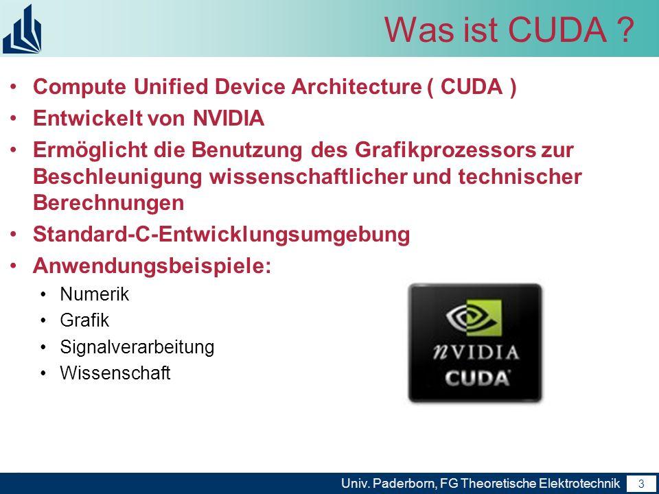 Was ist CUDA Compute Unified Device Architecture ( CUDA )