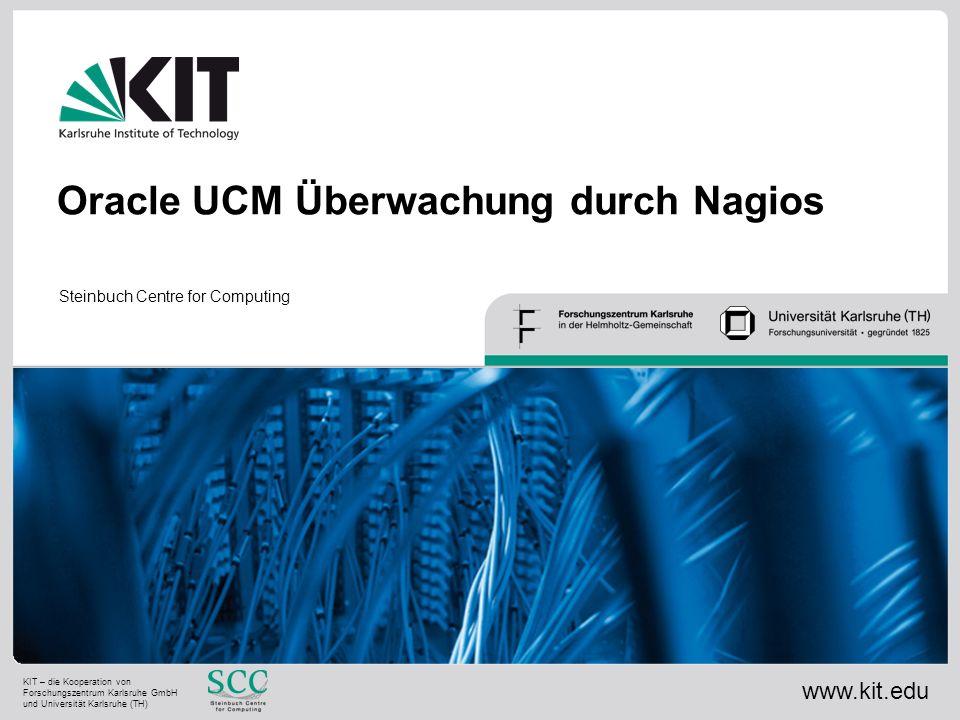 Oracle UCM Überwachung durch Nagios