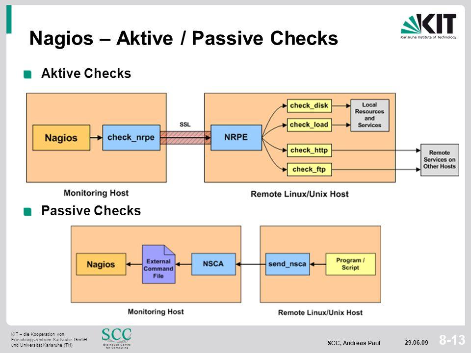 Nagios – Aktive / Passive Checks