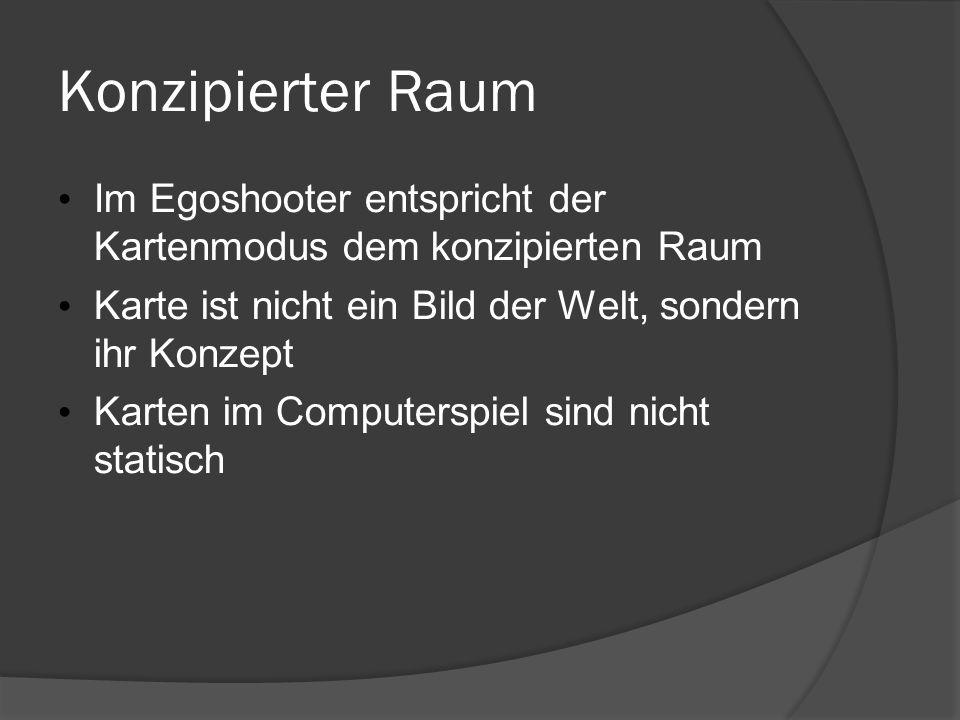 16.05.09 Konzipierter Raum. Im Egoshooter entspricht der Kartenmodus dem konzipierten Raum.