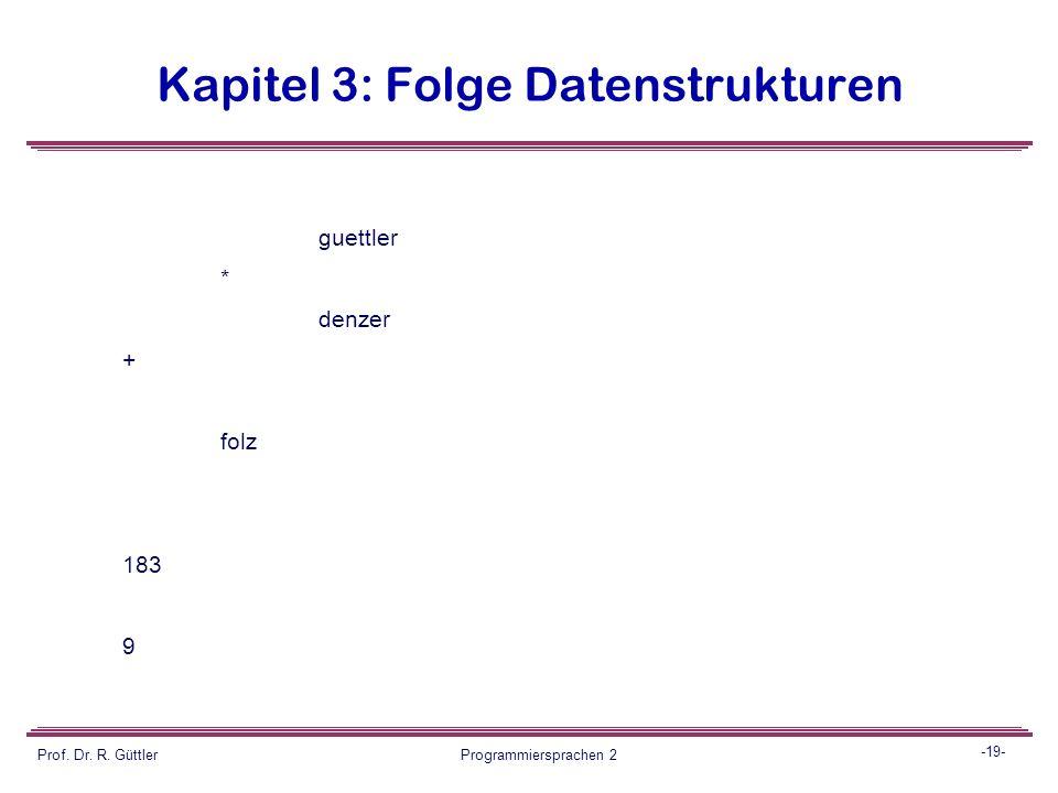 Kapitel 3: Folge Datenstrukturen