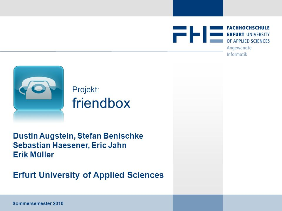 Erfurt University of Applied Sciences