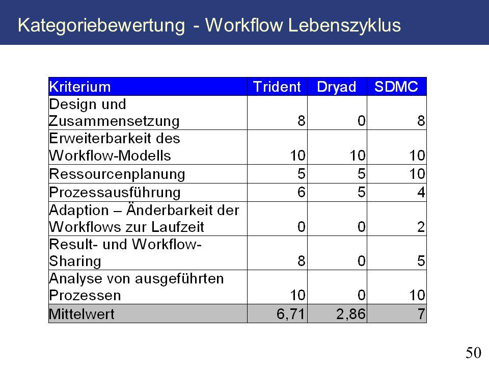 Kategoriebewertung - Workflow Lebenszyklus