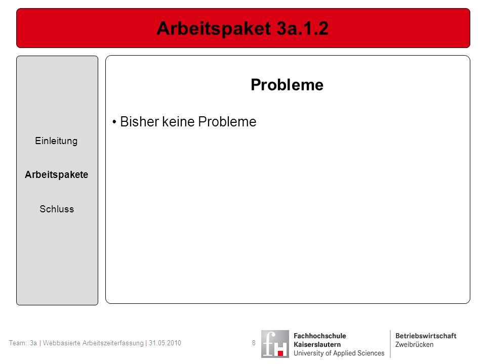Arbeitspaket 3a.1.2 Probleme Bisher keine Probleme Einleitung