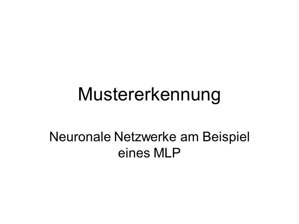 Neuronale Netzwerke am Beispiel eines MLP