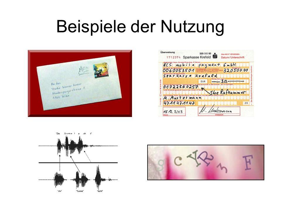 Beispiele der Nutzung