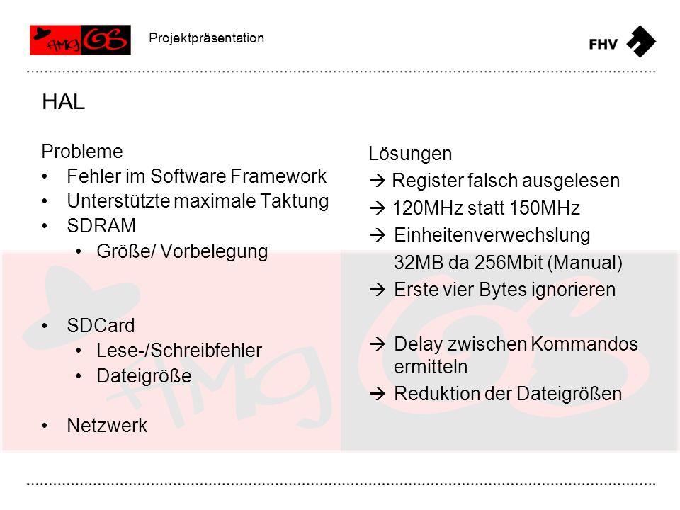 HAL Probleme Fehler im Software Framework