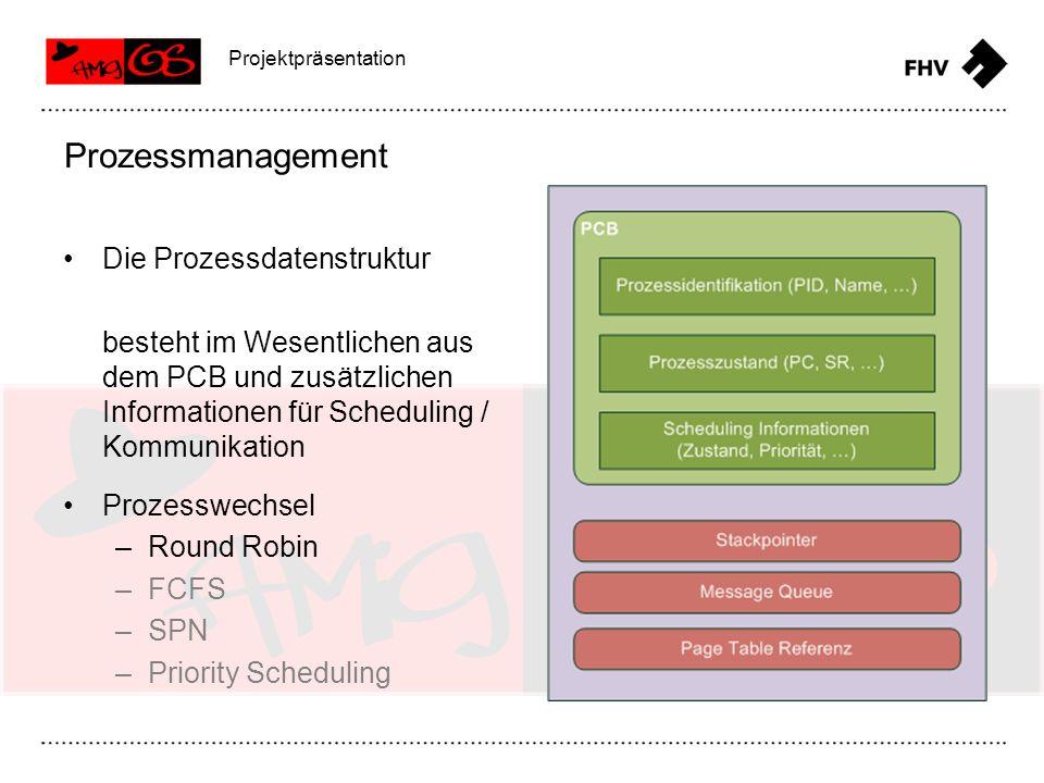 Prozessmanagement Die Prozessdatenstruktur
