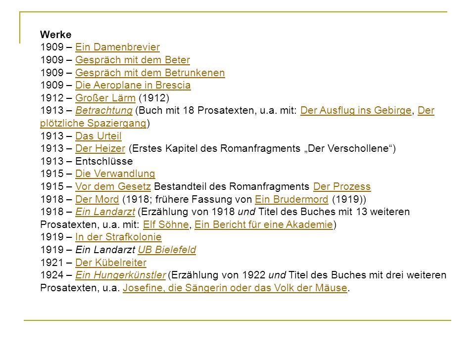 Werke 1909 – Ein Damenbrevier. 1909 – Gespräch mit dem Beter. 1909 – Gespräch mit dem Betrunkenen.