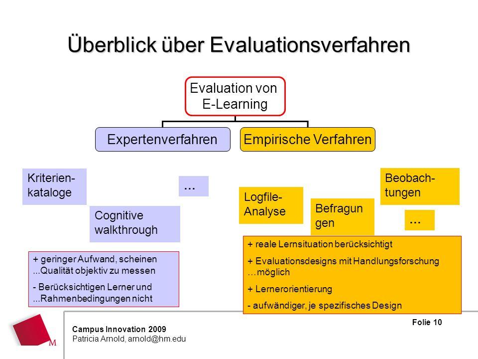 Überblick über Evaluationsverfahren