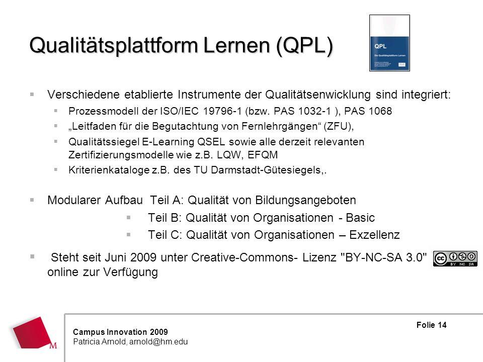 Qualitätsplattform Lernen (QPL)