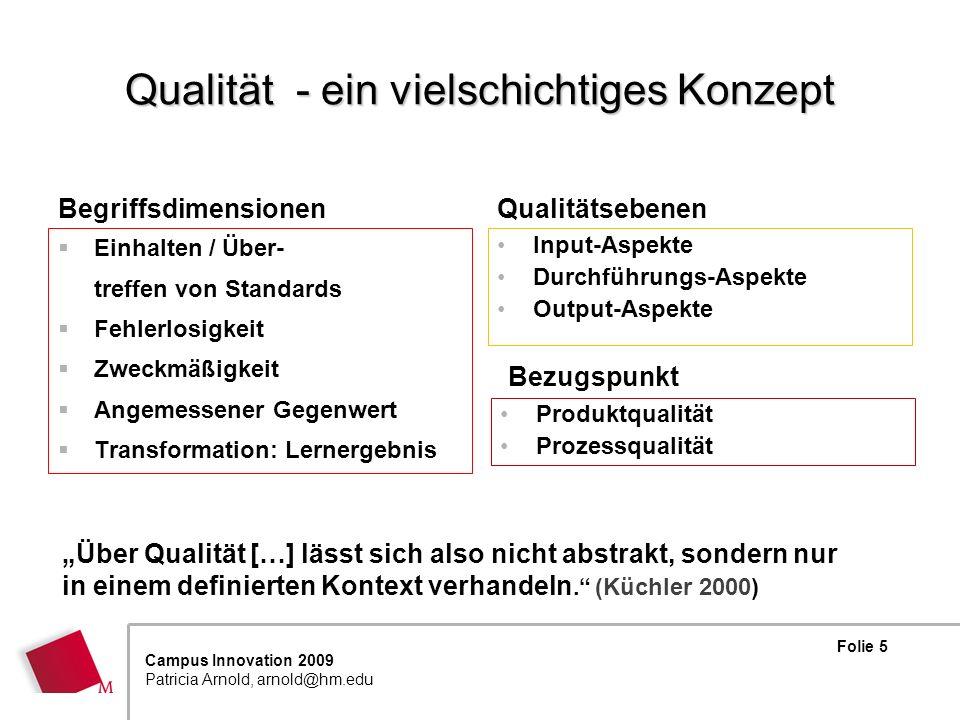 Qualität - ein vielschichtiges Konzept