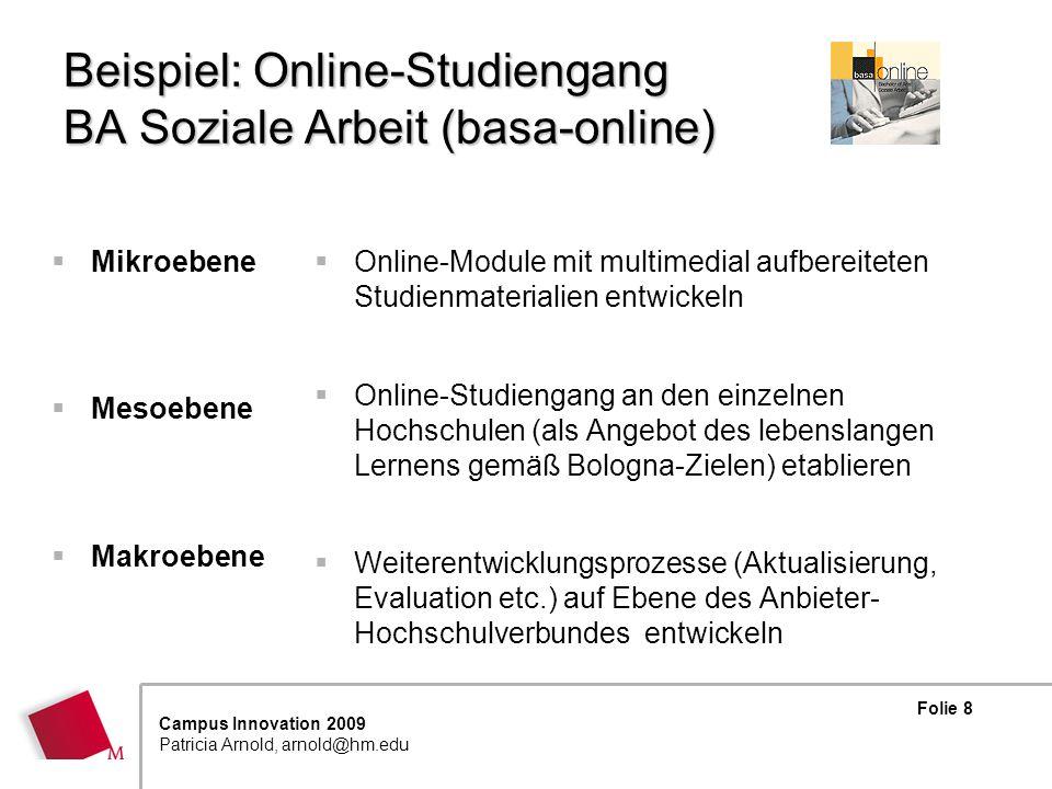 Beispiel: Online-Studiengang BA Soziale Arbeit (basa-online)
