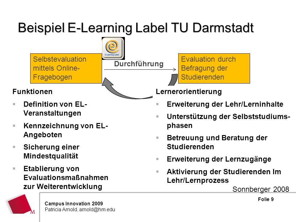 Beispiel E-Learning Label TU Darmstadt