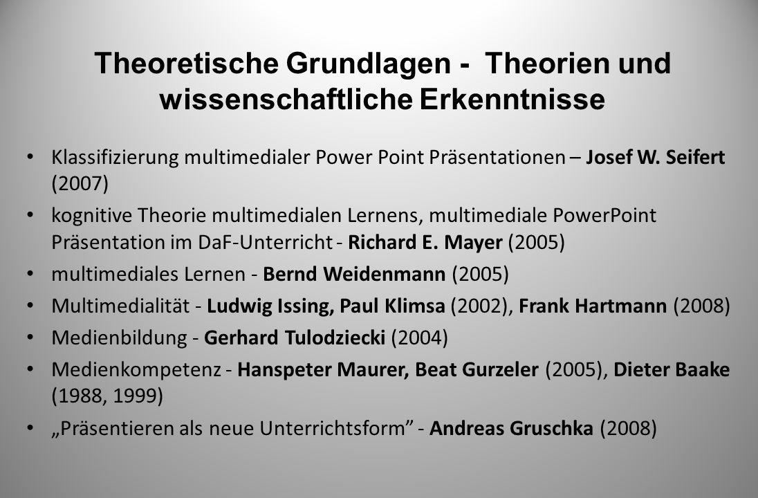 Theoretische Grundlagen - Theorien und wissenschaftliche Erkenntnisse