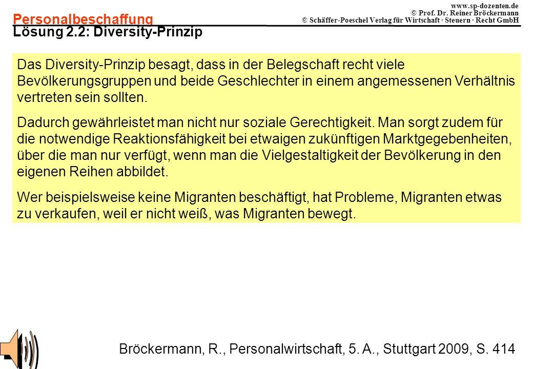 Lösung 2.2: Diversity-Prinzip