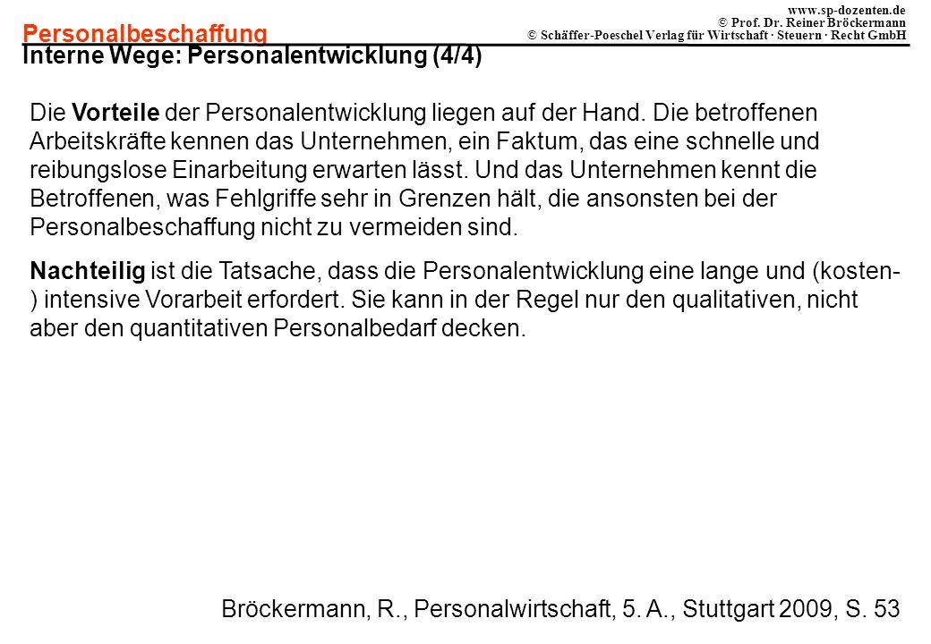 Interne Wege: Personalentwicklung (4/4)