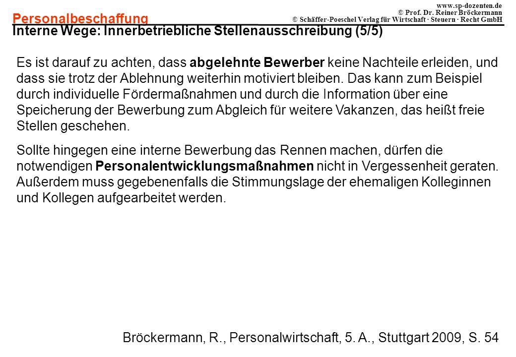 Interne Wege: Innerbetriebliche Stellenausschreibung (5/5)