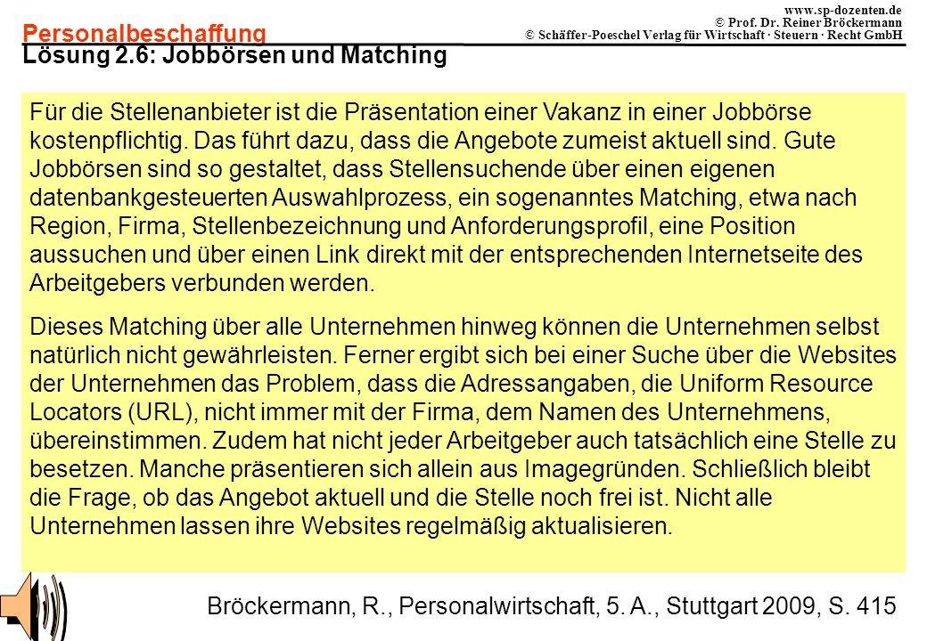 Lösung 2.6: Jobbörsen und Matching