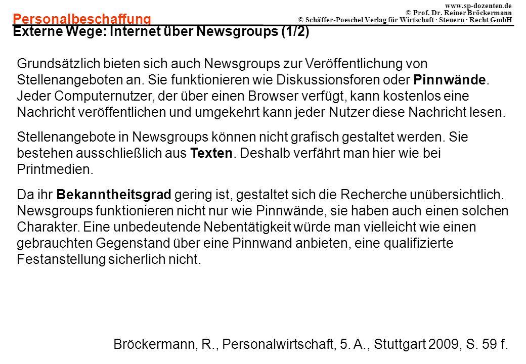 Externe Wege: Internet über Newsgroups (1/2)