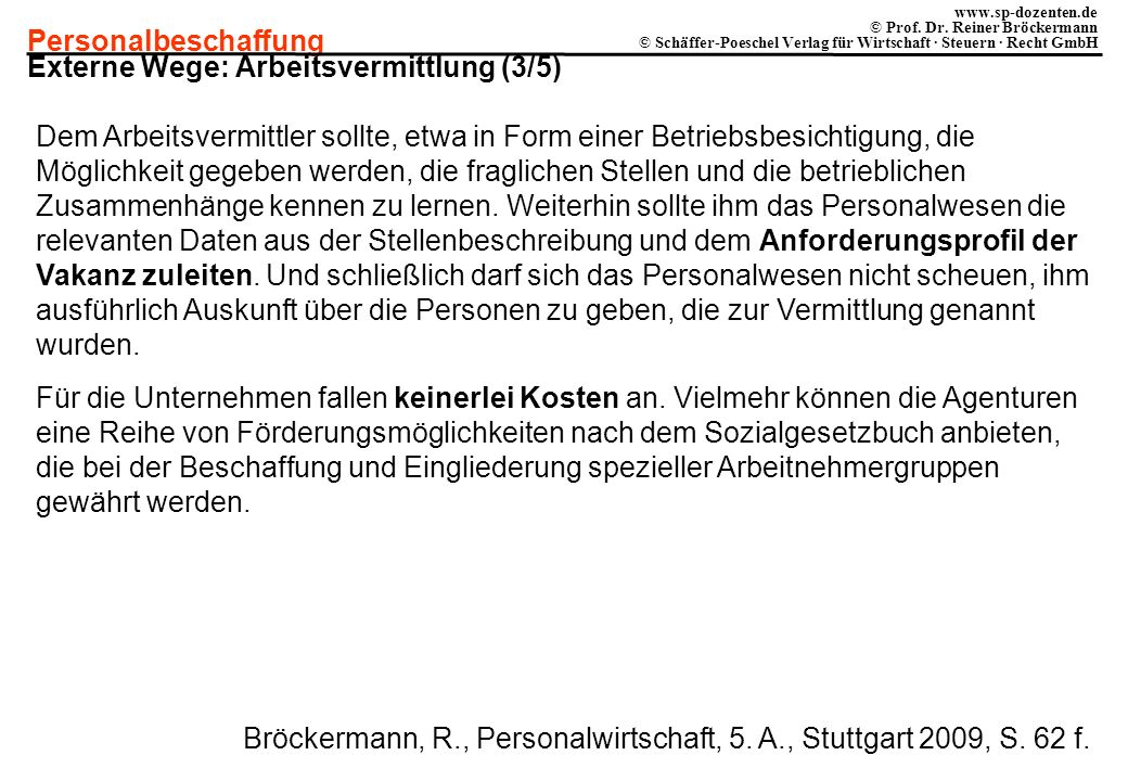 Externe Wege: Arbeitsvermittlung (3/5)