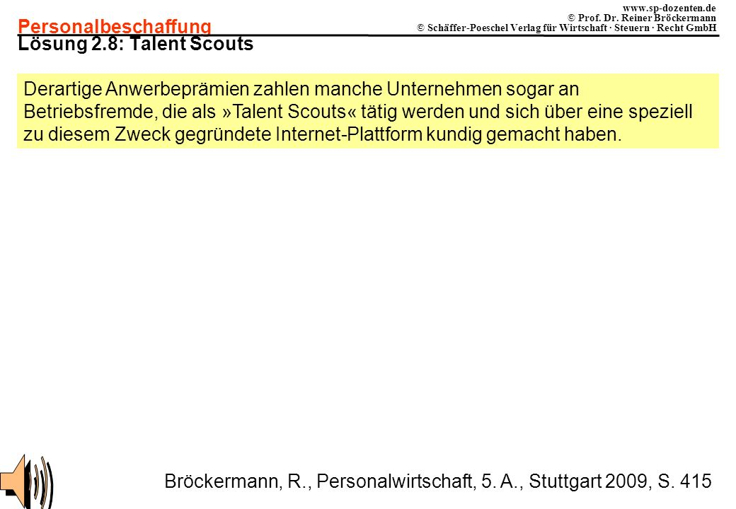 Lösung 2.8: Talent Scouts