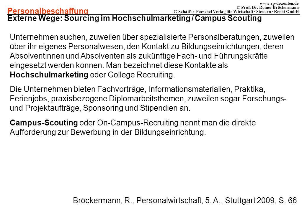 Externe Wege: Sourcing im Hochschulmarketing / Campus Scouting