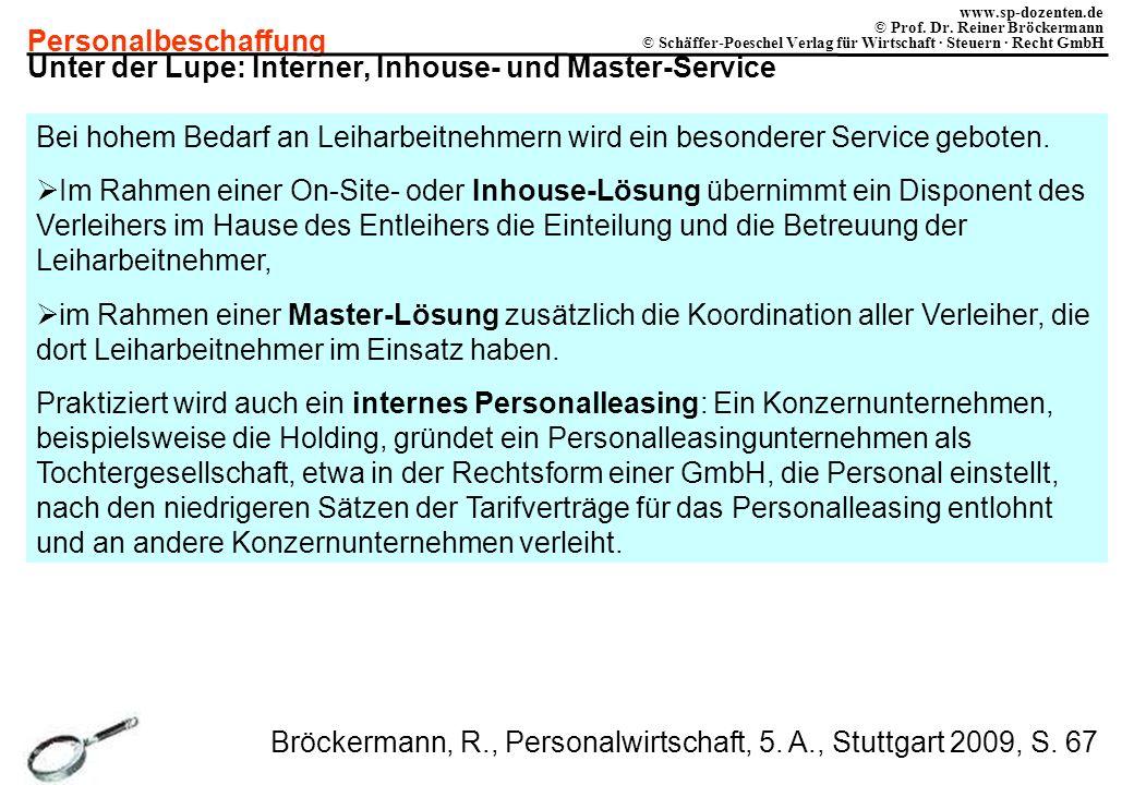 Unter der Lupe: Interner, Inhouse- und Master-Service
