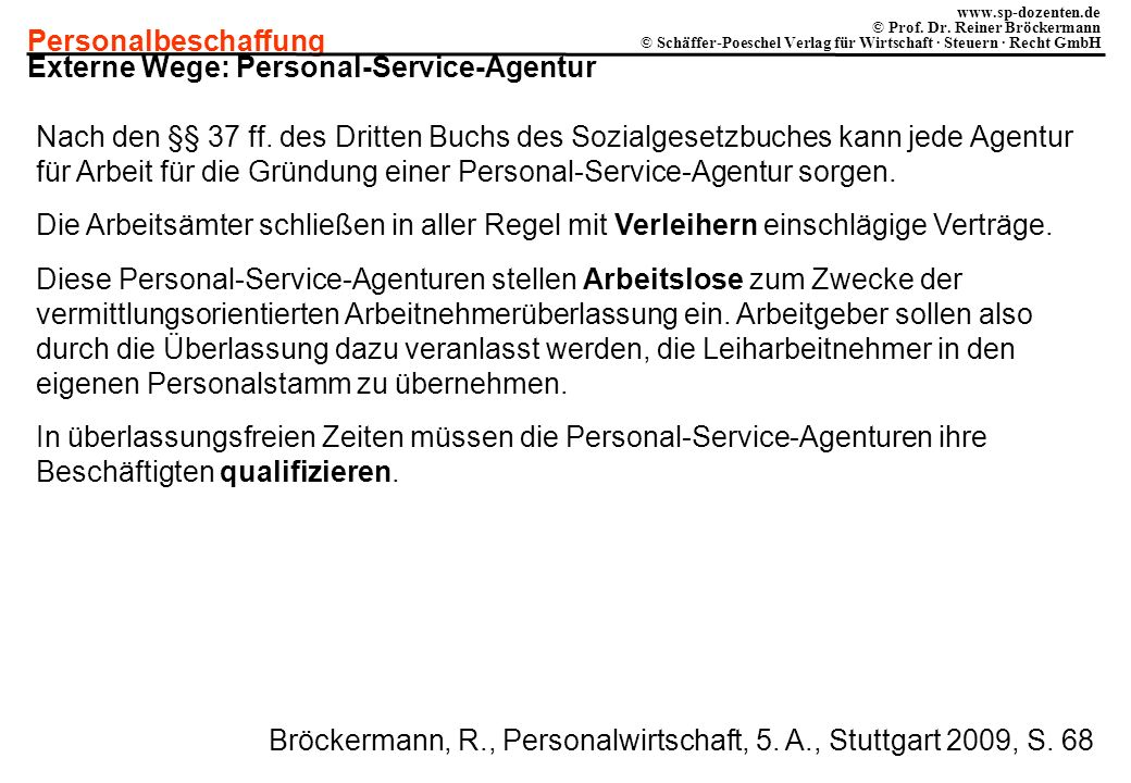 Externe Wege: Personal-Service-Agentur