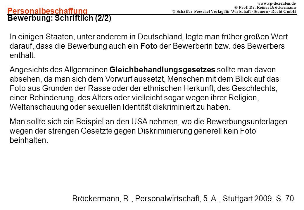 Bewerbung: Schriftlich (2/2)