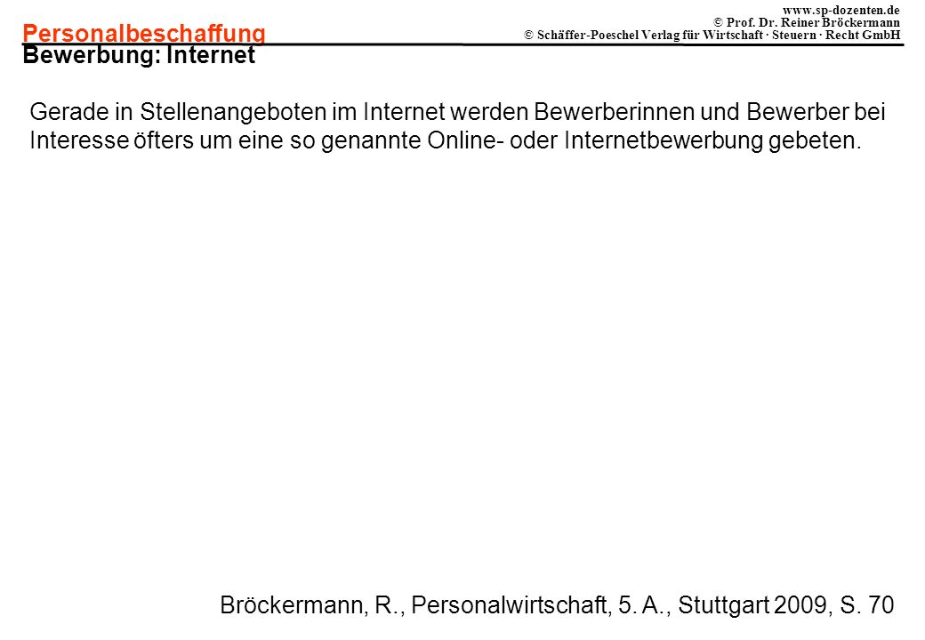 Bewerbung: Internet
