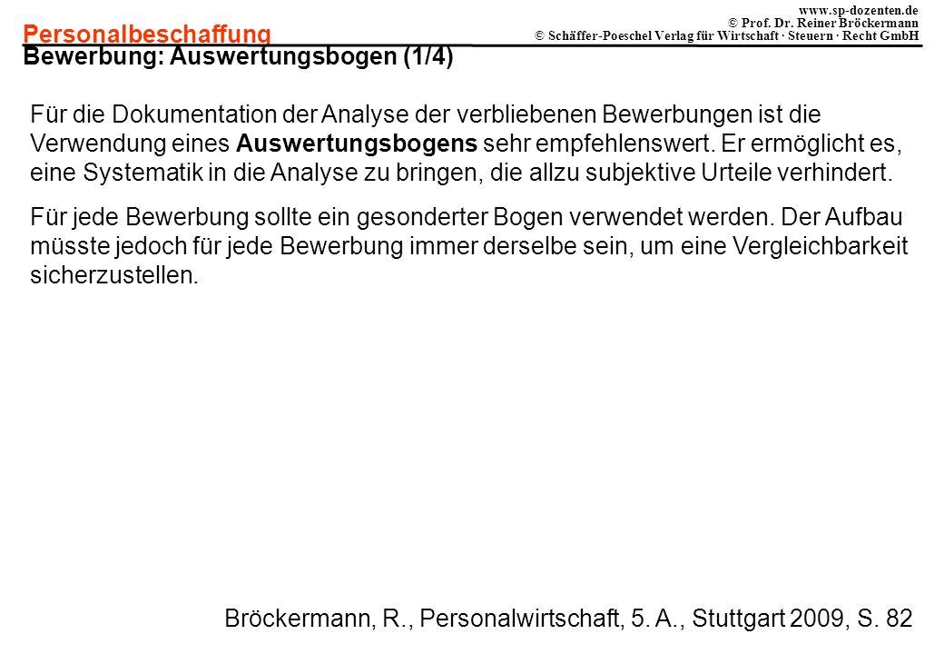 Bewerbung: Auswertungsbogen (1/4)
