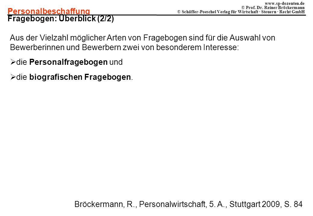 Fragebogen: Überblick (2/2)