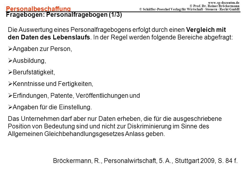 Fragebogen: Personalfragebogen (1/3)