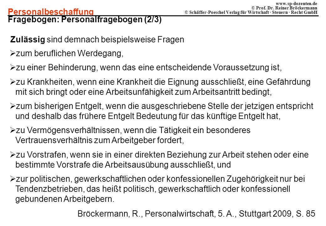 Fragebogen: Personalfragebogen (2/3)