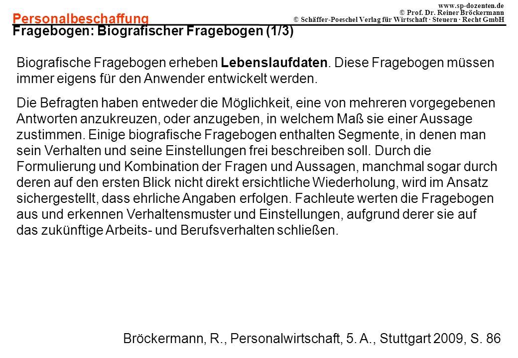 Fragebogen: Biografischer Fragebogen (1/3)
