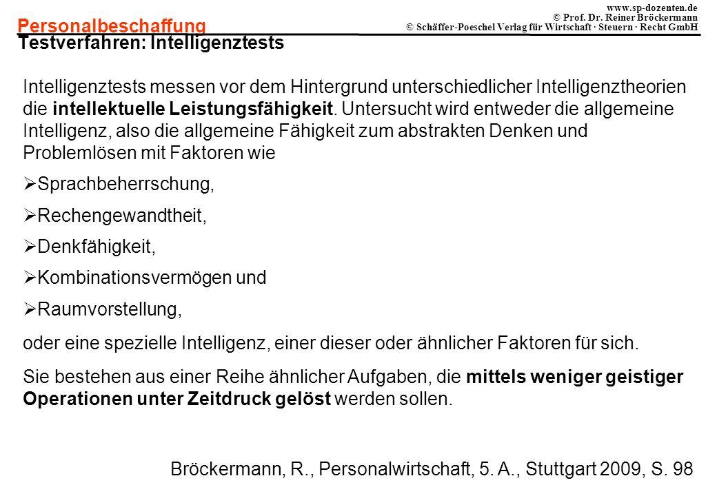 Testverfahren: Intelligenztests