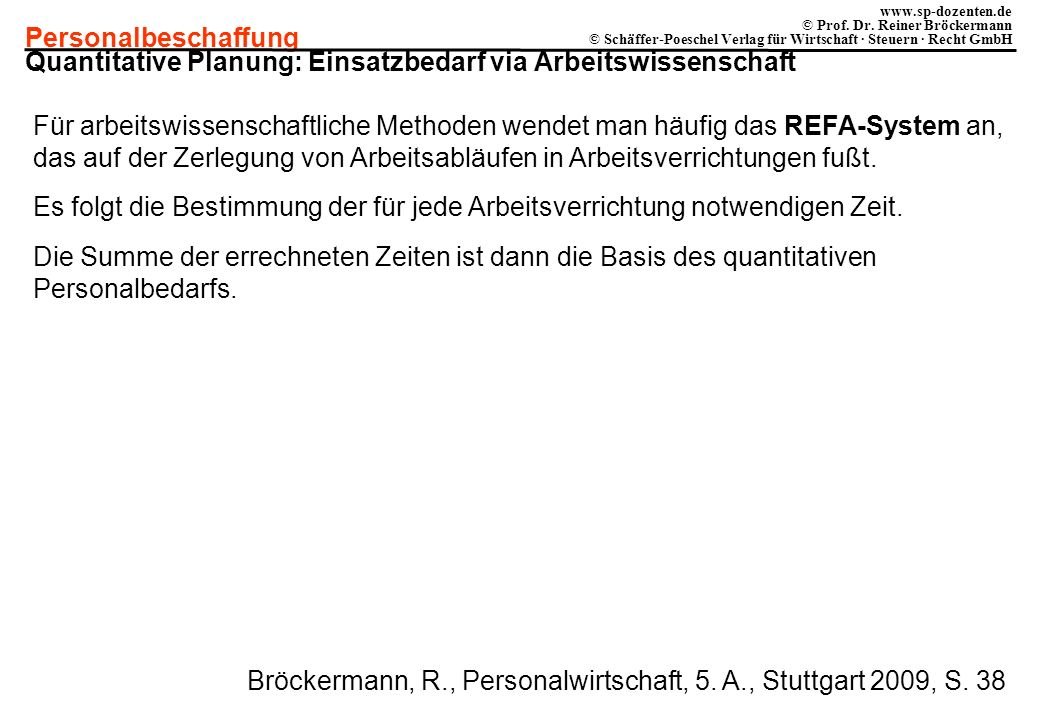 Quantitative Planung: Einsatzbedarf via Arbeitswissenschaft