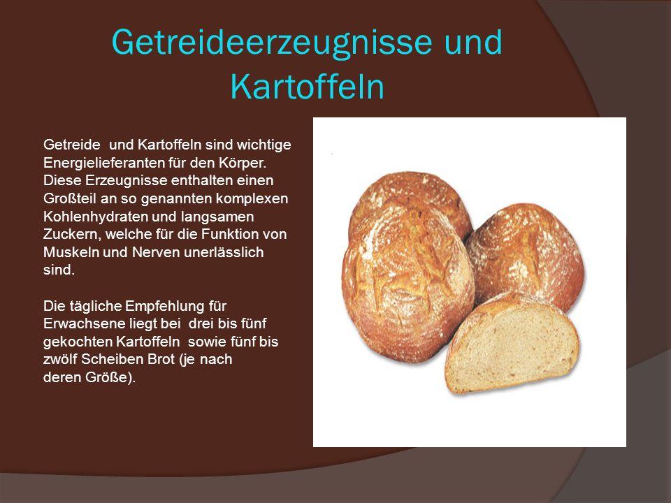 Getreideerzeugnisse und Kartoffeln